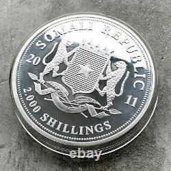 2011 Elephant Somalia Kilo coin 32.15 oz. 999 Silver Somalian Wildlife