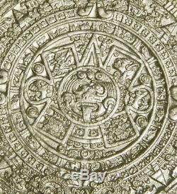 2011 Mexico 1 Kilo Silver 100 Pesos Aztec Calendar PL 1500 MINTAGE