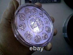 2011 Mexico Azteca 100 Pesos 1 Kilo 32.15 Oz Proof Like Silver Coin