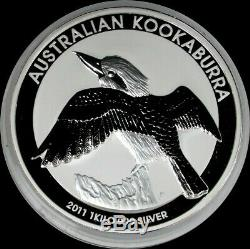 2011 SILVER AUSTRALIA 32.15 OZ KILO Kg KOOKABURRA $30 COIN PERTH MINT