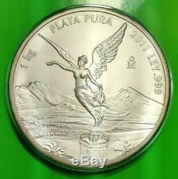 2011 Silver Libertad 1 Kilo! BU Mexico. 999 Plata Pura