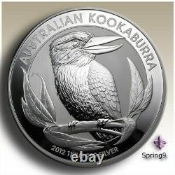 2012 1 Kilo Silver Australian Kookaburra BU In Capsule Coins Spring9 Mint Rare