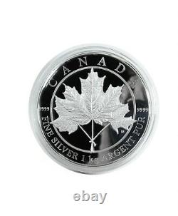 2012 $250 Maple Leaf Forever 1 Kilo. 9999 Fine Silver Coin Royal Canadian Mint