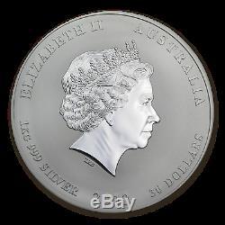 2012 Australia 1 kilo Silver Year of the Dragon BU (Colorized) SKU #67644
