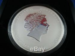 2012 Australian Lunar Series II Year of the Dragon 1 Kilo Silver Gemstone Coin