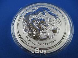 2012 Australian Lunar Series II Year of the Dragon 1 Kilo Silver Specimen Coin