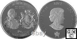 2012 Kilo'George III War of 1812 Medal' $250 Silver Coin. 9999 Fine (13015)