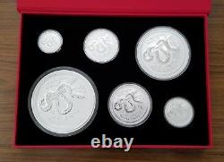 2013 1 Kilo &18.5 oz Silver Australian Lunar Year Of The Snake Coins Set