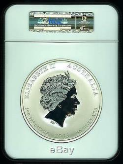 2013 P AUSTRALIA Lunar YEAR SNAKE 1 KILO (32.15 oz) Pure Silver Coin NGC MS70