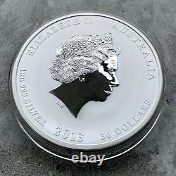 2013 Year of the Snake Australia Kilo coin 32.15 oz. 999 Silver