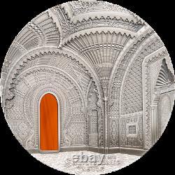 2014 2018 5coin set $50 Palau TIFFANY ART, 1 Kilo 999 Silver Coin withBox & COA