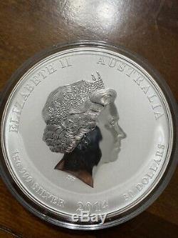 2014 Australia 1 Kilo Silver Lunar Year Of The Horse