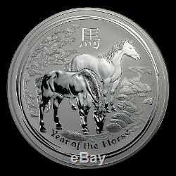 2014 Australia 1 kilo Silver Lunar Horse BU (SII) SKU #78053