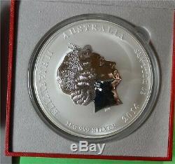 2014 Australia Lunar Series II Year Horse 1 Kilo. 999 Silver Coin in Box
