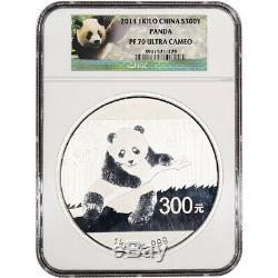 2014 China Silver Panda Kilo Proof 32.15 oz 300 Yuan NGC PF70 UCAM with OGP