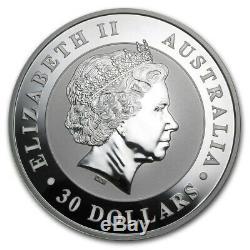 2014 Silver One Kilo Kookaburra Australia 30 Dollars Bullion Over 32 Oz