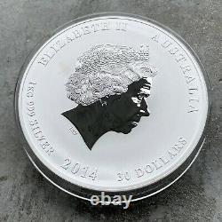 2014 Year of the Horse Australia Kilo coin 32.15 oz. 999 Silver Australian