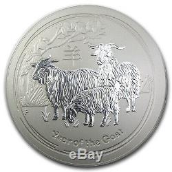 2015 Australia 10 kilo Silver Lunar Goat BU (Series II) SKU #88792