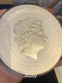 2015 Australia Perth Mint 1 kg Kilo Silver Coin Year of Koala 32.15oz in capsule
