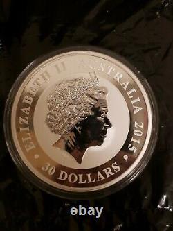 2015 Australian Kookaburra 1 Kilo. 999 Silver (32.15 oz) with Capsule