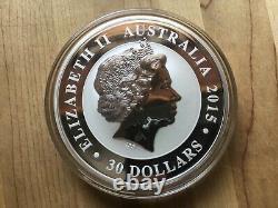 2015 Australian Kookaburra Kilo 999 fine silver coin 25th anniversary issue