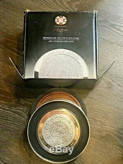 2015 Mexico 1 Kilo $100 Aztec Calendar 32.15 Ozt. 999 Fine Silver Capsule B/p