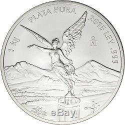 2015 Mexico Silver Libertad Kilo 32.15 oz BU in Plastic Capsule