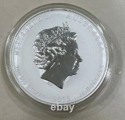 2015 Perth Mint Lunar Year of the Goat Silver Coin 1kg Kilo BU Encapsulated