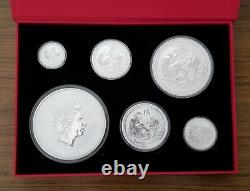 2016 1 Kilo &18.5 oz Silver Australia Lunar Year Of The Monkey Coins Set