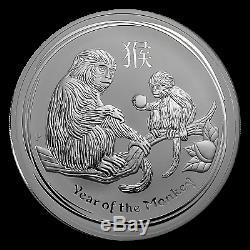 2016 Australia 1 kilo Silver Lunar Monkey BU SKU #92719