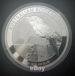 2016 Australia Perth Mint 1 KILO. 999 Silver Kookaburra coin in OGP Capsule BU