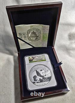 2016 China Silver Panda 300 Yuan NGC PF69 Ultra Cameo 1 Kilo Silver Panda Lbl