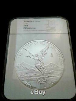 2016 Mo Mexico 1 Kilo. 999 Fine Silver Libertad Coin NGC MS70 pop 192