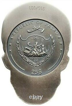 2017 1/2 KILO Silver PALAU $25 BIG SKULL Shape Coin