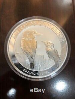 2017 Australia 1 kilo Silver Kookaburra BU (SCARCE!) Perth Mint in Capsule