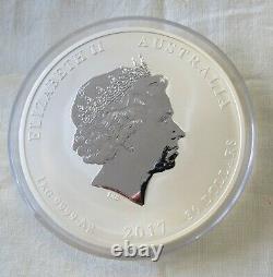 2017 Australia 1 kilo (over 32 oz) Silver Lunar Year of Rooster BU 30 Dollars