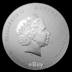 2017 Australia 10 kilo Silver Lunar Rooster BU SKU#150128