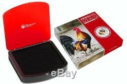 2017 Australia Lunar Year Rooster 1 Kilo Gemstone Silver $30 Coin NGC SP 70
