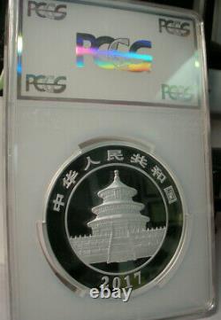 2017 China 300 Yuan Silver Panda Coin Pcgs Pr69 Dcam 1 Kilo. 999 Fine Signature