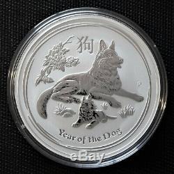 2017 Lunar Year of the Dog 1 Kilo Silver Coin
