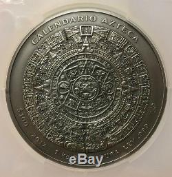 2017 Mexico 1 kilo Silver Aztec Calendar PCGS MS 70 First Strike