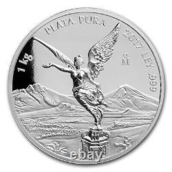 2017 Mexico 1 kilo Silver Libertad High Relief Proof Like