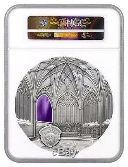 2017 Palau Silver $50 Tiffany Art 1 Kilo PF70 ANTIQUED ER NGC Coin POP=3