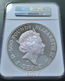 2017 Queen's Beasts The Lion 1 Kilo Silver Proof Coin NGC PF69 Ultra Cameo £500
