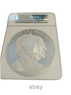 2017 UK Platinum Wedding Kilo(1000 grams)Silver Coin WithNGC PF70 First 50 Struck