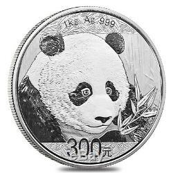 2018 1 kilo Chinese Silver Panda 300 Yuan. 999 Fine Proof (withBox & COA)