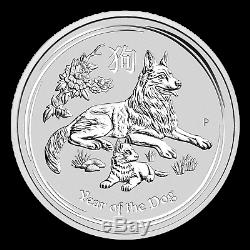 2018 Australia 10 kilo Silver Lunar Dog BU SKU#154327