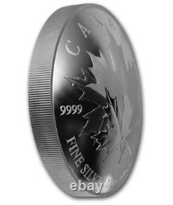 2018 Canada $250 Maple Leaf Forever 9999 Silver 1 Kilo Curved Coin withOGP and COA