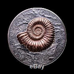 2018 Mongolia 1 kilo Silver 20,000 Togrog Ammonite Antique Finish SKU#186810
