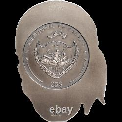 2018 Palau BIG PIRATE SKULL Antiqued 1/2 Kilo Silver Coin 500 grams